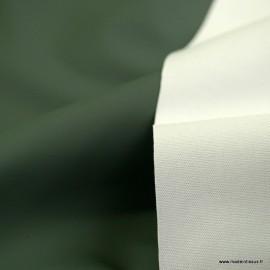 Tissu enduit ciré de pluie uni coloris Kaki