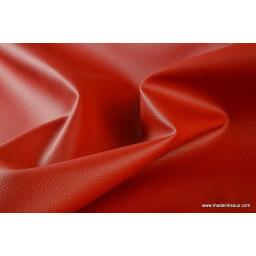 Faux cuirs ameublement rigide rouge par 50cm