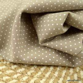 Tissu Viscose à pois fond beige