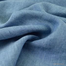 Tissu Lin chambray Georgio bleu jean