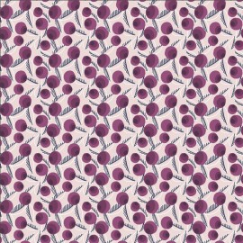 Tissu coton motifs baies violettes - Glory - Betty Jean - Plum Fabric - Cotton and Steel