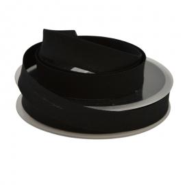 Biais replié 18 mm coton uni Noir - oeko tex