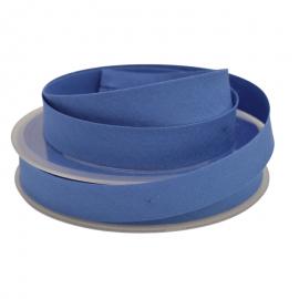 Biais replié 18 mm coton uni Bleu Azur - oeko tex