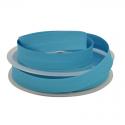 Biais replié 18 mm coton uni Bleu Caraibes - oeko tex