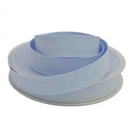 Biais replié 18 mm coton uni Bleu Myosotis - oeko tex