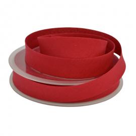 Biais replié 18 mm coton uni Rouge Hermès - oeko tex