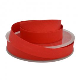 Biais replié 18 mm coton uni Rouge - oeko tex