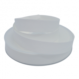 Biais replié 18 mm coton uni Blanc - oeko tex
