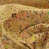 Liège naturel gros grain grains Confettis multicouleurs