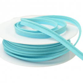 Passepoil 10 mm coton Bleu Lagon