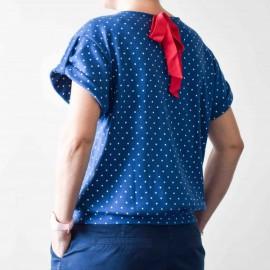 Patron Mademoiselle Gus - Top avec manches à revers du 32 au 46 - PM Pattern