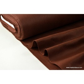 tissu feutrine marron polyester par 50cm