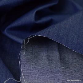 Popeline Jean denim coton léger bleu