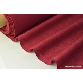 tissu faux uni bordeaux pour nappe et décoration ..x 1m