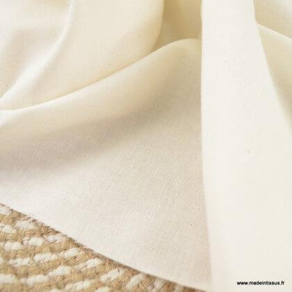 Tissu popeline coton léger certifié contact alimentaire
