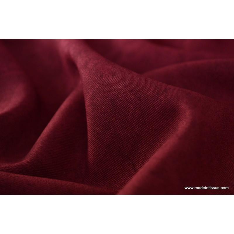 tissu faux uni bordeaux pour nappe et d coration x 1m made in tissus. Black Bedroom Furniture Sets. Home Design Ideas
