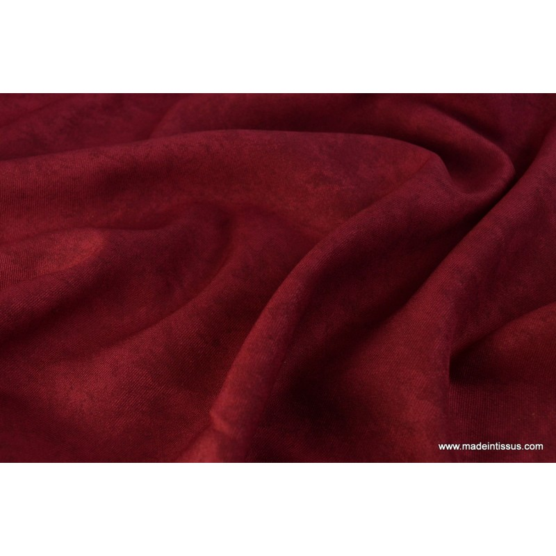 tissu faux uni bordeaux pour nappe et d coration x 1m. Black Bedroom Furniture Sets. Home Design Ideas