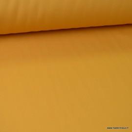 Tissu gabardine sergé polyester coton coloris Moutarde - oeko tex