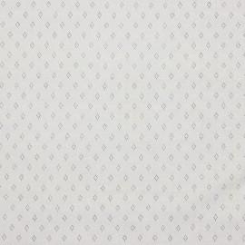 Tissu jersey ajouré maille pointelle coloris Ecru - oeko tex