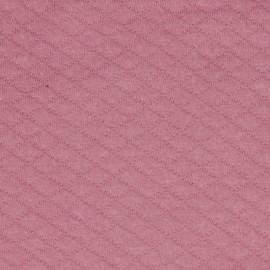 Tissu Jersey matelassé losange vieux rose - oeko tex