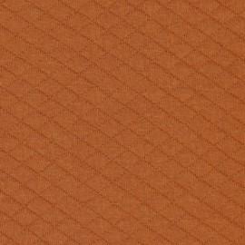 Tissu Jersey matelassé losange Brique - oeko tex