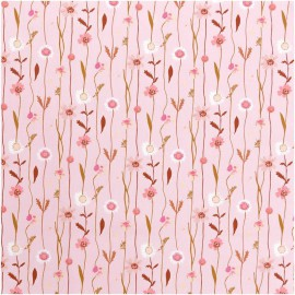 Tissu fleurs des champs Rose Rico Design