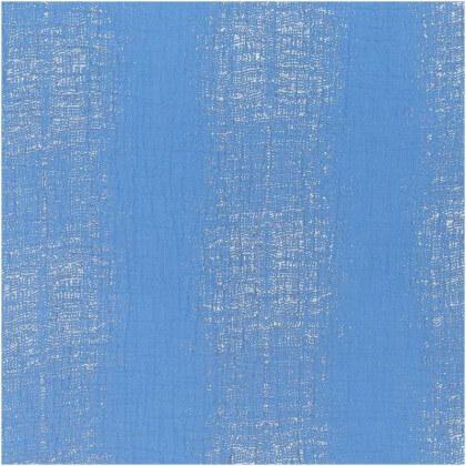 Tissu double gaze de coton motifs argentés fond bleu Rico design