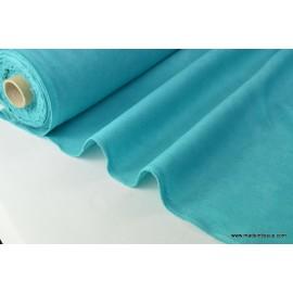 tissu faux uni turquoise foncé pour nappe et décoration ..x 1m