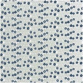 Tissu petites fleurs fond gris et blanc Rico Design