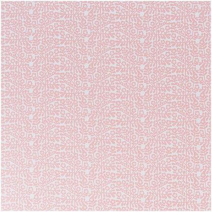 Tissu petites fleurs fond rose et blanc Rico Design