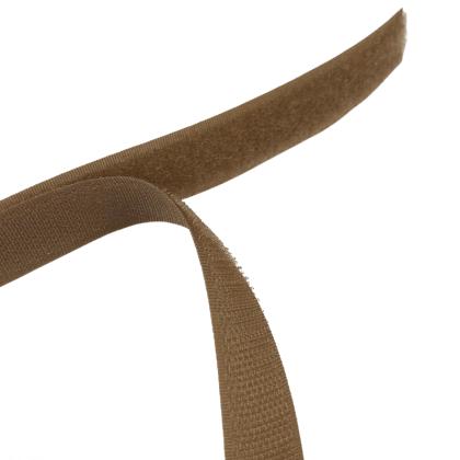 Velcro à coudre 20mm male + femelle Café