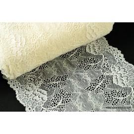 Galon dentelle ivoire robe de mariée 17cm .
