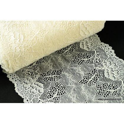 Galon dentelle ivoire robe de mariée 17cm