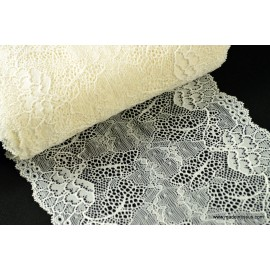 Tissu Galon dentelle ivoire robe de mariée 17cm .