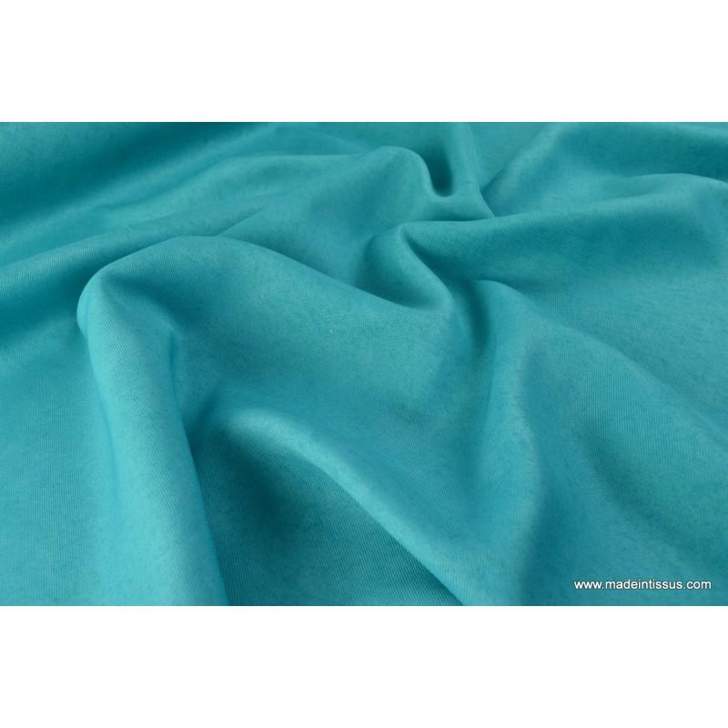 tissu faux uni turquoise fonc pour nappe et d coration x 1m made in tissus. Black Bedroom Furniture Sets. Home Design Ideas