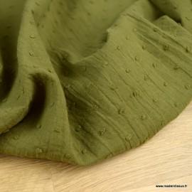 Tissu plumetis voile de coton Bronze