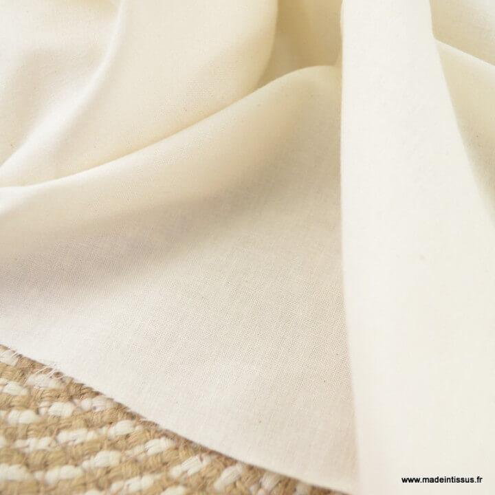 Voile de coton écru x50cm