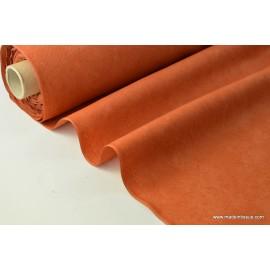 tissu faux uni  rouille pour nappe et décoration ..x 1m