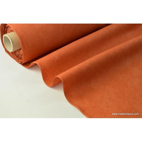 tissu faux uni rouille pour nappe et d coration x 1m made in tissus. Black Bedroom Furniture Sets. Home Design Ideas