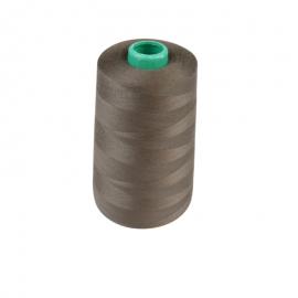 Cône de fil à coudre 100% polyester Marron - 5000 m