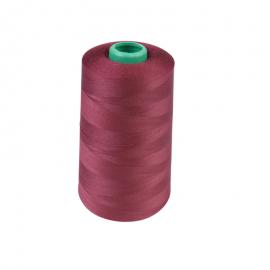 Cône de fil à coudre 100% polyester Bordeaux - 5000 m