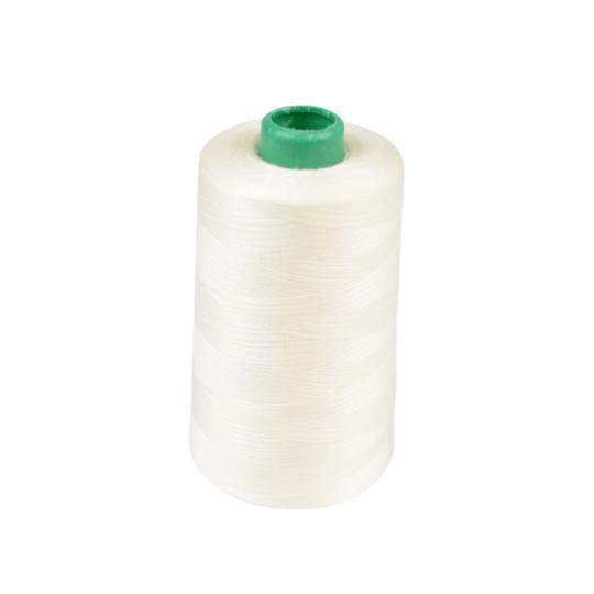 Cône de fil à coudre 100% polyester Ecru - 5000 m
