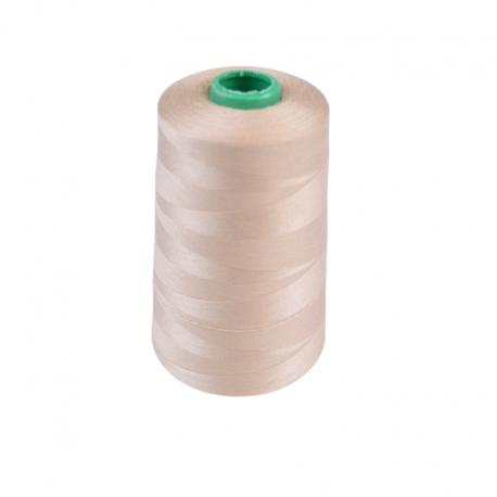 Cône de fil à coudre 100% polyester Beige - 5000 m