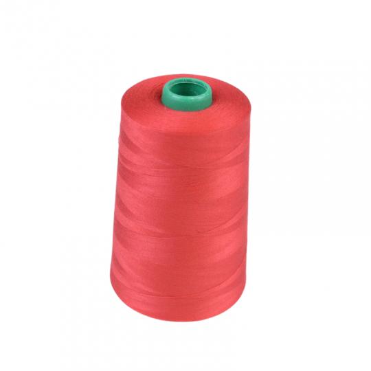 Cône de fil à coudre 100% polyester Rouge - 5000 m