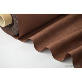 tissu faux uni chocolat pour nappe et décoration ..x 1m
