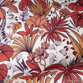 Demi natté coton type Canva motif Lombok Terracotta - oeko tex
