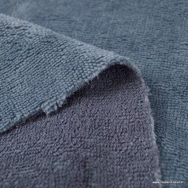 Tissu micro éponge de bambou gris foncé - oeko tex