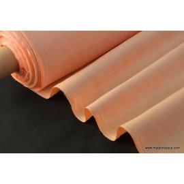 tissu faux uni saumon pour nappe et décoration ..x 1m
