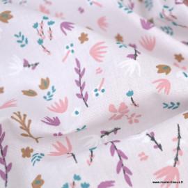 Tissu cretonne coton Impera motifs herbes folles - oeko tex