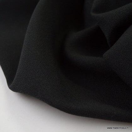Tissu crêpe georgette Noir